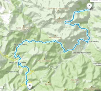 Riaño Trail Run. Mapa etapa 2
