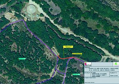 Alzado,  plano y situación Programa de Infraestructuras Turísticas en Áreas Naturales - Centro del Lobo - Félix Rodríguez de la Fuente - Robledo (Zamora)