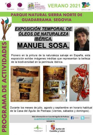 Exposición pintura naturaleza Ibérica. Manuel Sosa