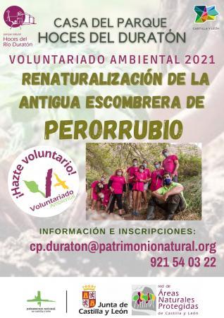 Voluntariado ambiental para renaturalizar la antigua escombrera de Perorrubio