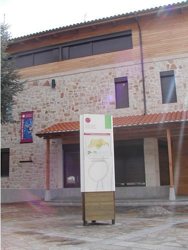 Detalle de la Casa del Parque de Cervera de Pisuerga