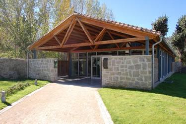 Acceso a la Casa del Parque de Iruelas (avila)