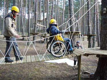 Parque de Aventuras El Amogable - Soria - accesibilidad