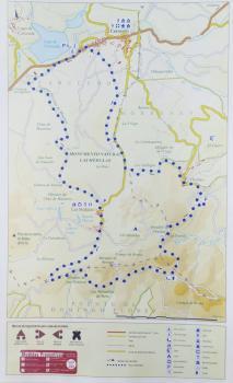 Ruta cicloturista. Las Médulas. Mapa