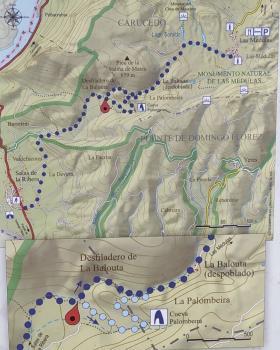 Senda Camino la Balouta. Las Médulas. Mapa