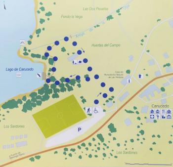 Senda Lago Carucedo. Las Médulas. Mapa