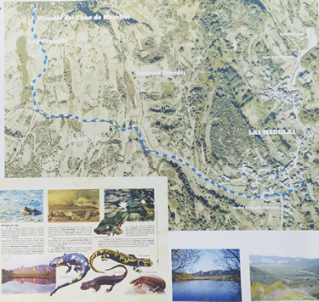 Senda Lago Sumido. Las Médulas. Mapa