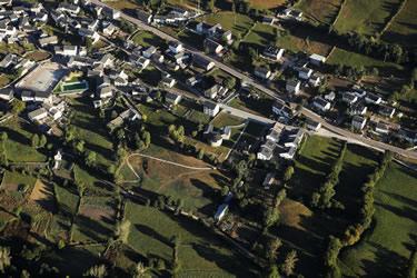 Vista aérea del Centro del Urogallo (León)